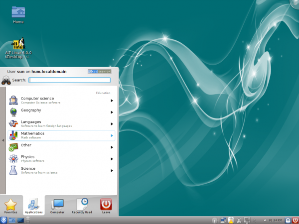 Kickoff Menu ALT Linux 6