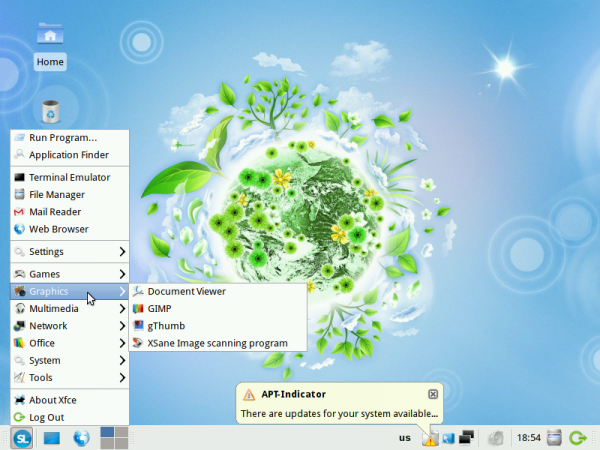 ALT Linux 6 Simply Desktop Menu