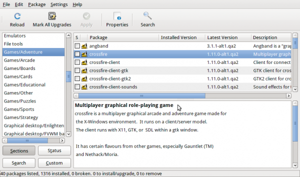 ALT Linux 6 Simply Synaptic