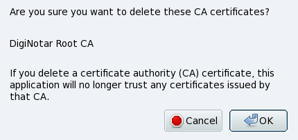 Delete DigiNotar Certificate