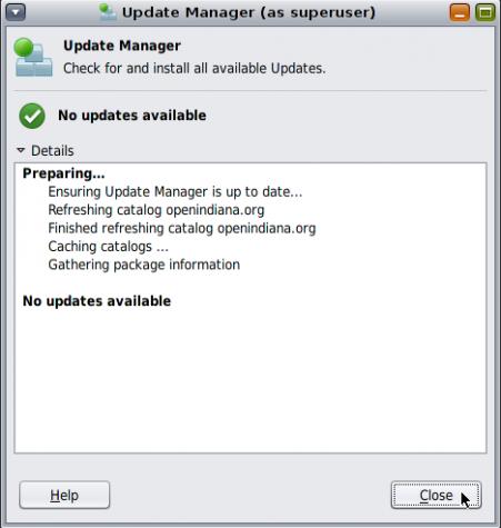 OpenIndiana Updates Manager