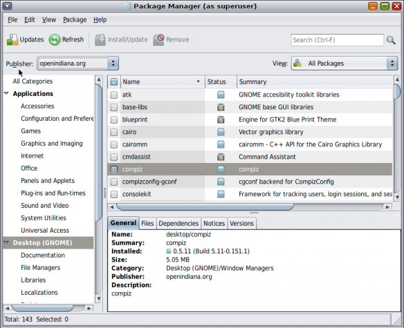 OpenIndiana Package Manager