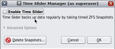 OpenIndiana ZFS Time Slider