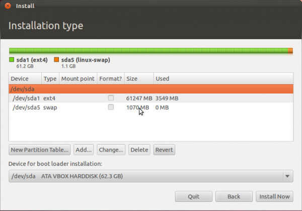 Ubuntu 11.10 Advanced Partition