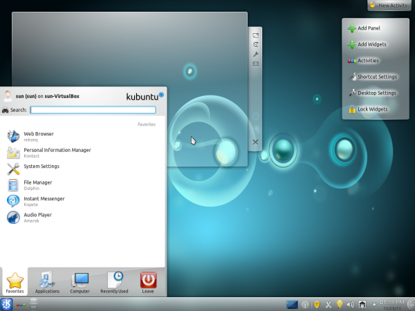 Kubuntu 11.10 Desktop 