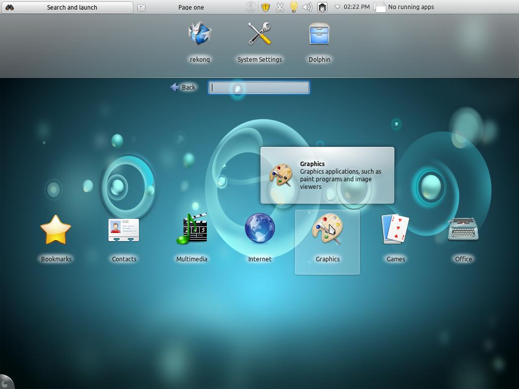 Kubuntu 11.10 Netbook Desktop