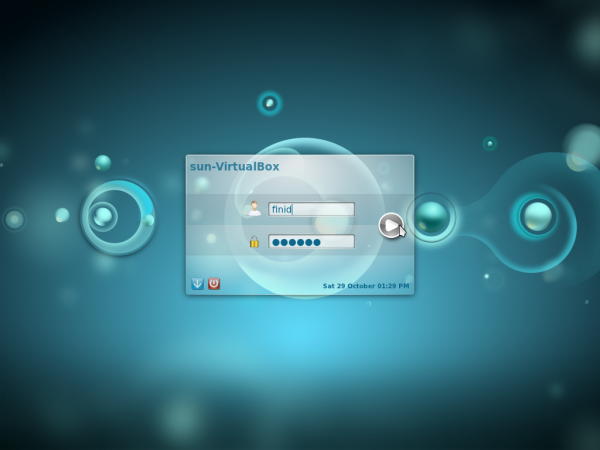 Kubuntu 11.10 Login Screen