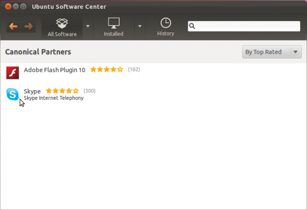 Ubuntu 11.10 Software Center Partners