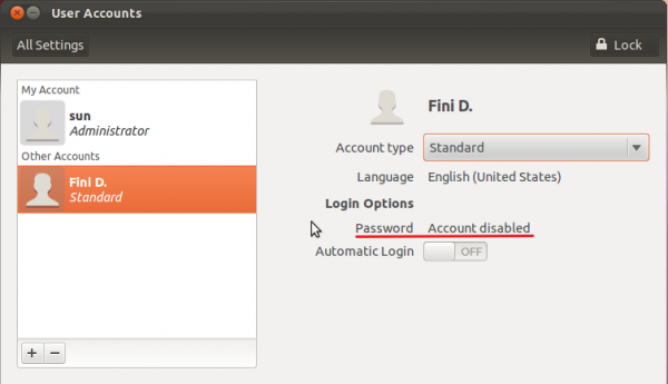 Ubuntu 11.10 Password Disabled