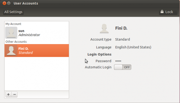 Ubuntu 11.10 User Accounts