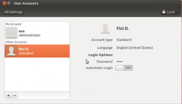 Ubuntu 11.10 User Accounts
