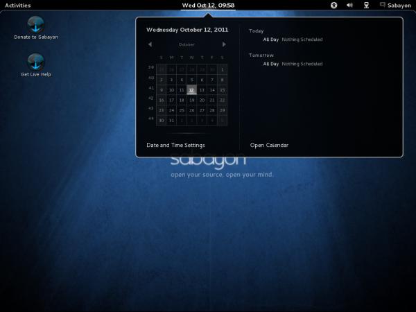 Sabayon 7 GNOME 3 Desktop