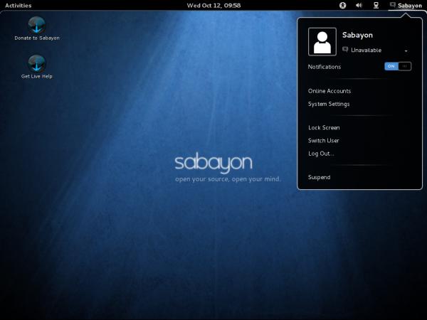 Sabayon 7 GNOME 3