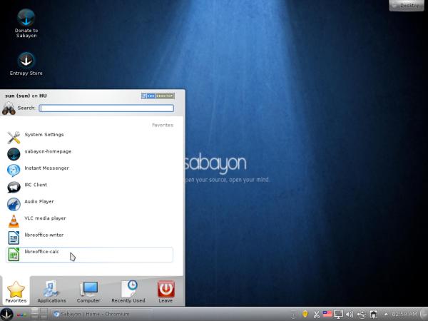 Sabayon 7 KDE 4.7 Desktop