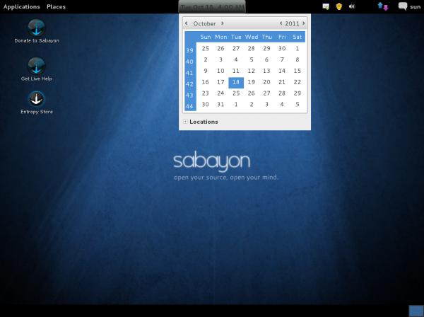 Sabayon 7 GNOME 3 Fallback Mode