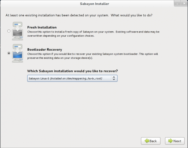 Sabayon 7 Installation Options