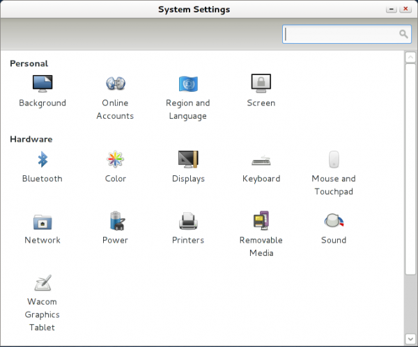 System Settings Sabayon 7 GNOME 3