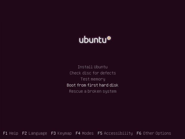 Ubuntu 11.10 Alternate Boot Menu