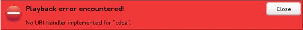 Sabayon 7 GNOME 3 CDDA Error