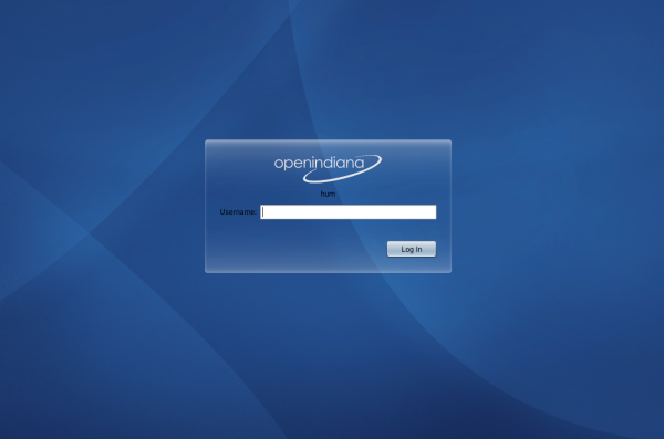 OpenIndiana 151a Login Screen