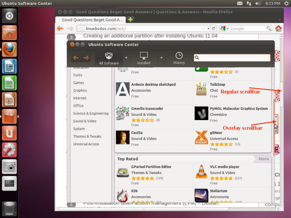 Ubuntu 11.10 Overlay Scrollbar