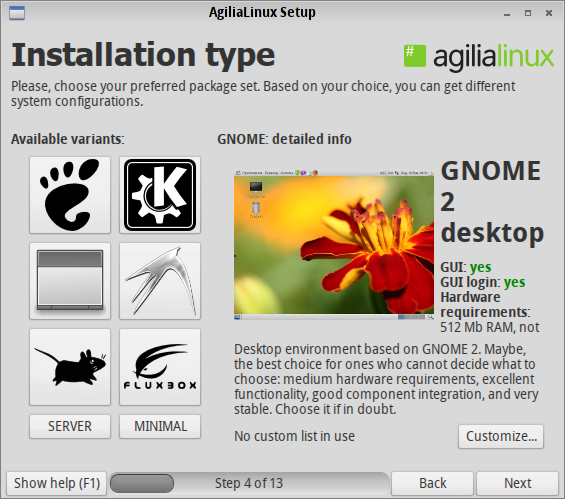Agilia 8 Desktop Options