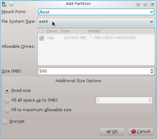 Fedora 16 Boot Partition