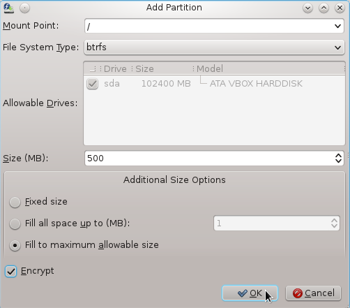 Fedora 16 Btrfs Root Partition