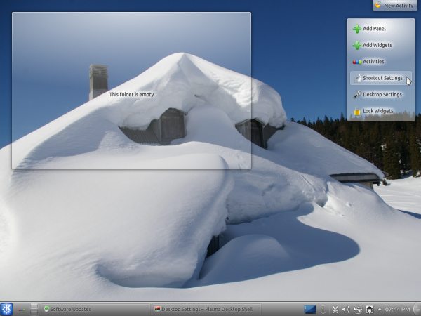 Kubuntu KDE Snow Wallpaper