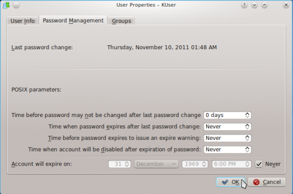 Chakra User Password Management