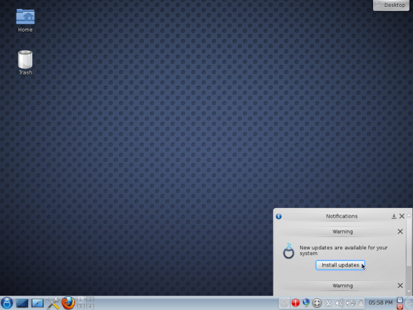 Mageia 2 KDE Applet