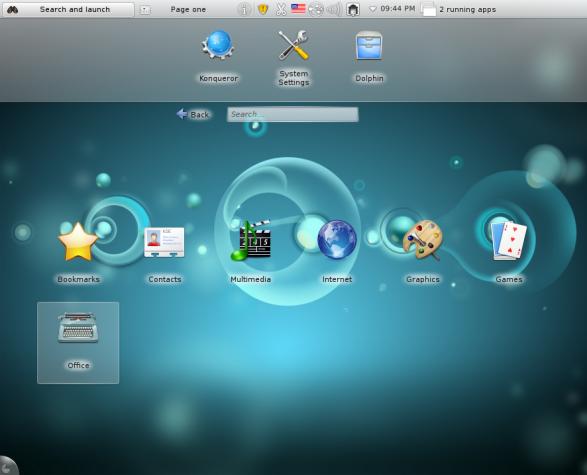 Sabayon 7 KDE Plasma Netbook