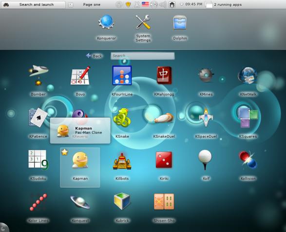 Sabayon 7 KDE Games