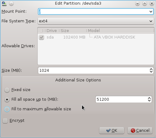 Fedora 16 Partitions
