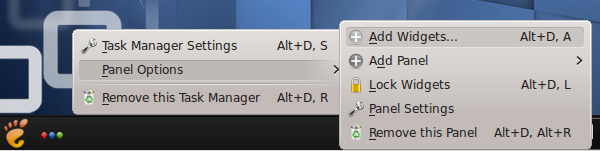 Add KDE Widgets