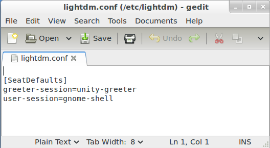 Mint 12 LightDM.conf