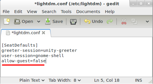 Mint 12 Edit LightDM.conf
