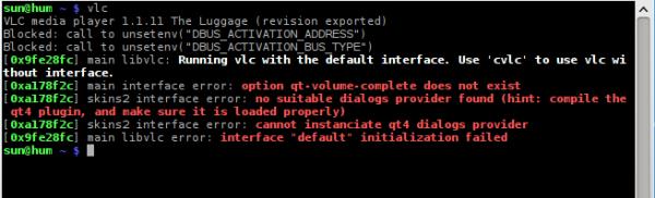 Sabayon 7 KDE VLC Error