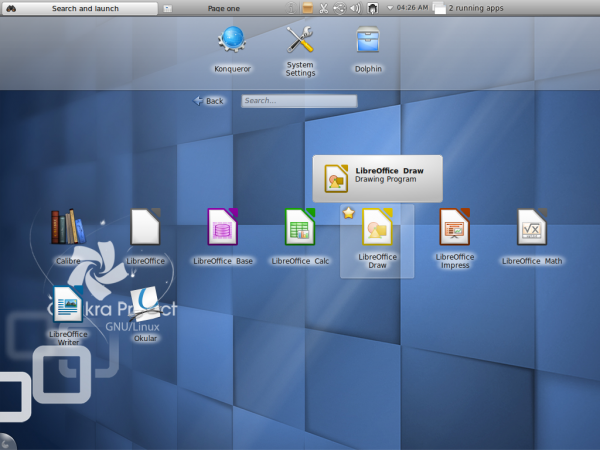 Office Apps in Chakra Edn 2011.12