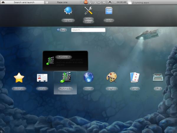 Fedora KDE Desktop Plasma Netbook