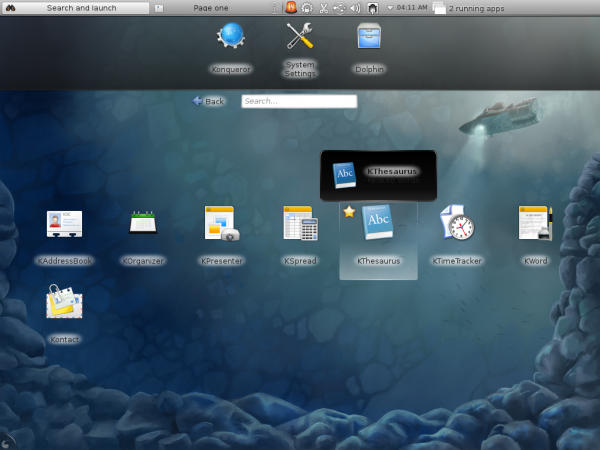 Fedora 16 KDE Office Apps