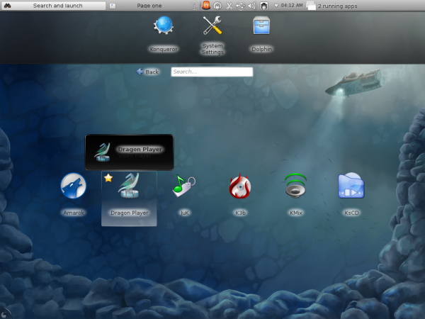 Fedora 16 KDE Multimedia Apps