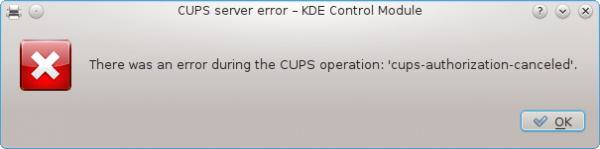 Fedora 16 KDE CUPS Printer Error