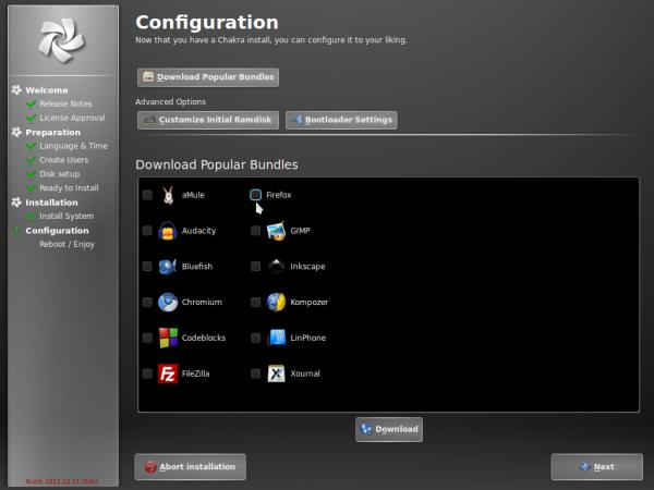 Chakra GNU/Linux Edn 2011.12 review