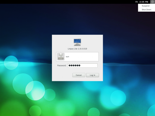 Linpus Lite 1.6 Desktop Login