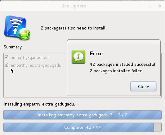 Linpus Lite 1.6 Live Update Error