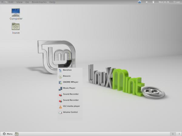 Linux Mint GNOME Shell Desktop