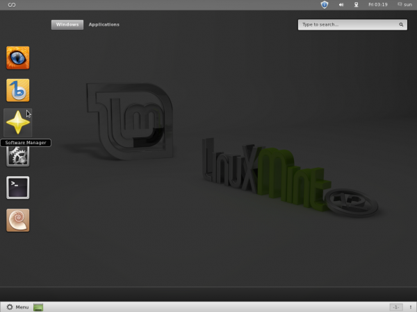 Linux Mint 12 GNOME 3 Activities