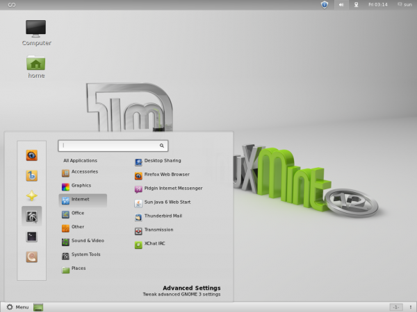 Linux Mint GNOME Shell
