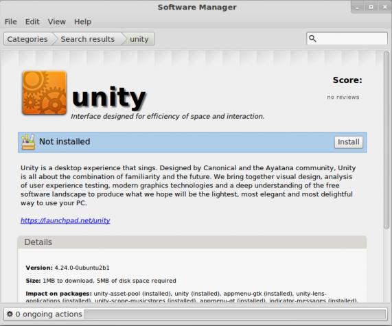 Install Unity Desktop Linux Mint 12